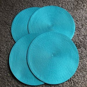 Other - Straw teal kitchen place mats decor